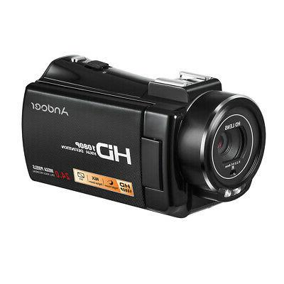 #US 1080P Full HD 24MP Digital Video Camera & Hot Shoe