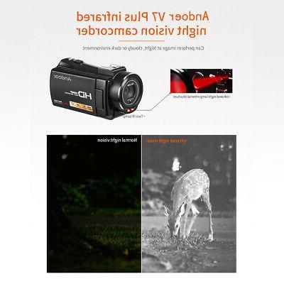 #US 1080P Full 24MP Portable Digital Camera Hot Shoe Mount