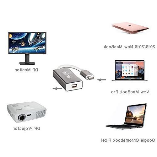 USB USB to Mini DisplayPort/Mini DP Adapter Cable Support 4K resolution Apple 2016, ChromeBook