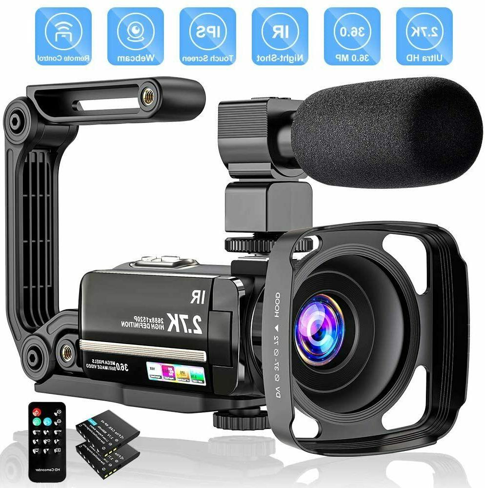 video camera 2 7k camcorder ultra hd