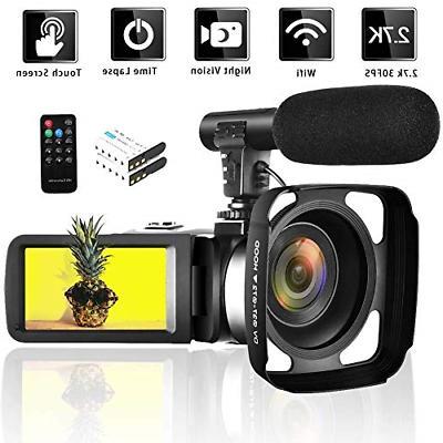 video camera 2 7k wifi vlogging camera