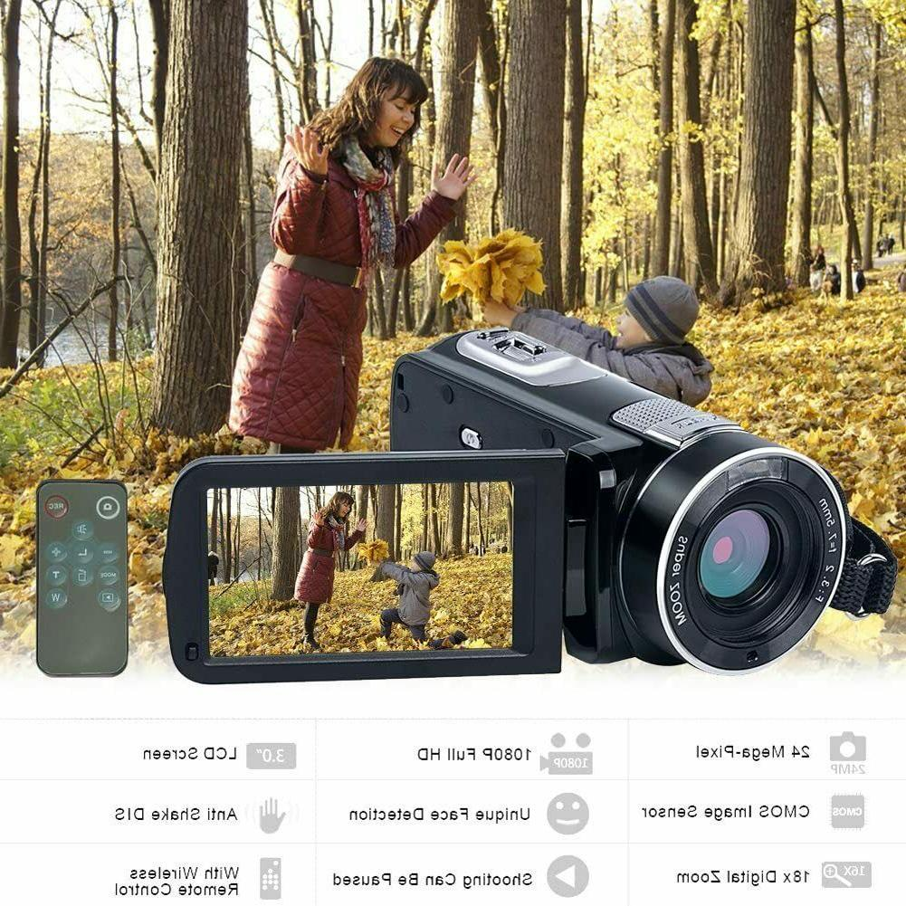 Video Camcorder 24.0MP 18X Zoom Night Vision