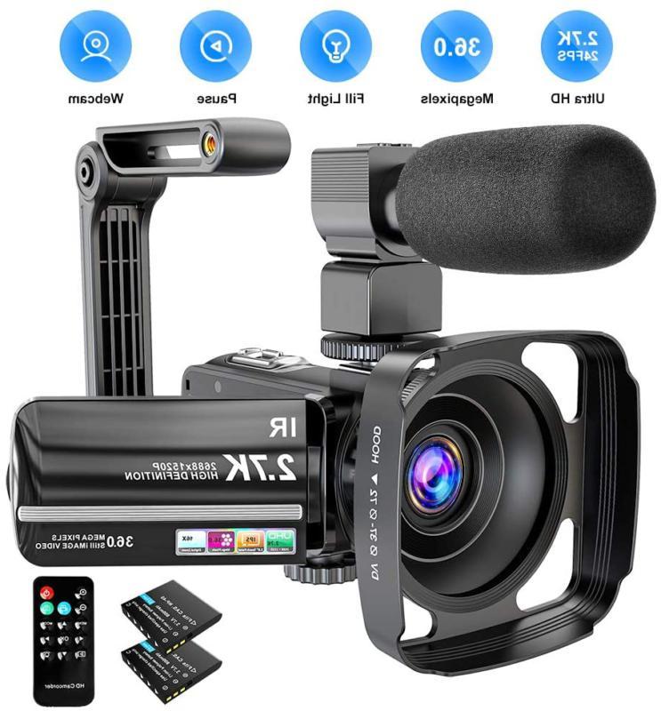 video camera camcorder 2 7k ultra hd