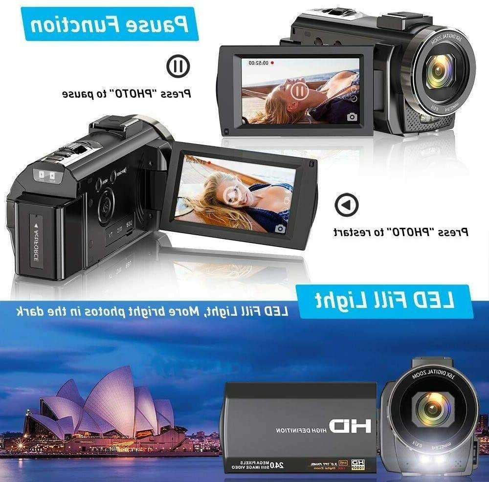 Video YouTube, 1080P 30FPS 24MP Vlogging Camera