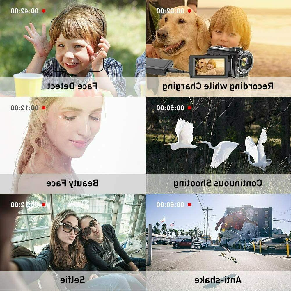 Video Camera YouTube, 1080P 30FPS 24MP Digital