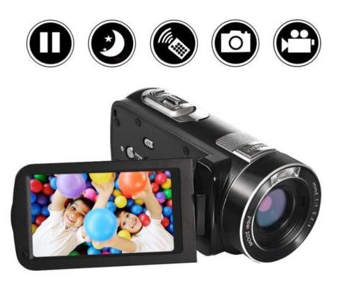"SEREE Video Camera Camcorder Full HD 24.0MP 3.0"" LCD..."