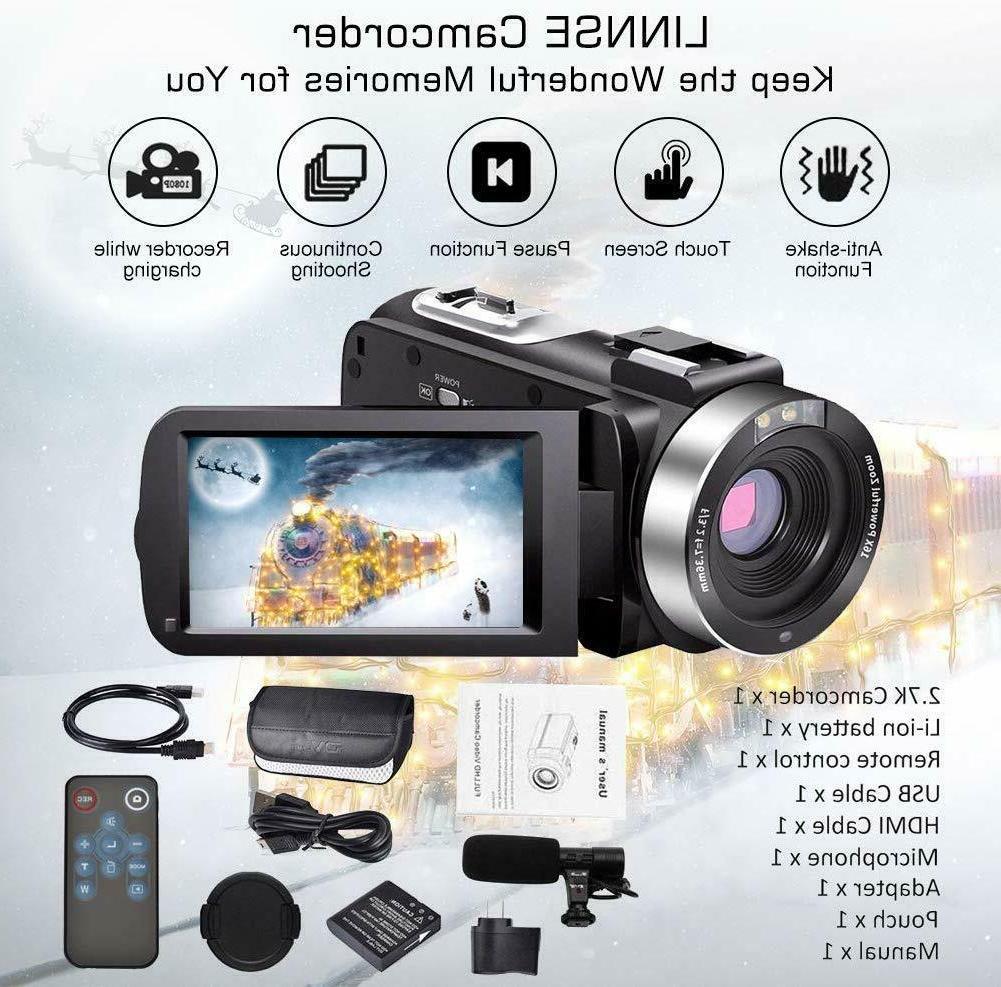 Video Camera 30FPS 3'' LCD Screen