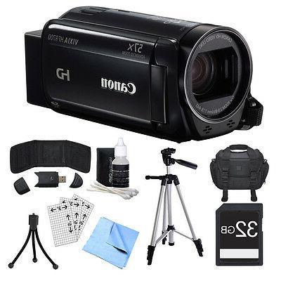 Canon VIXIA HF R700 Black Camcorder, 32GB Card, and Accessor