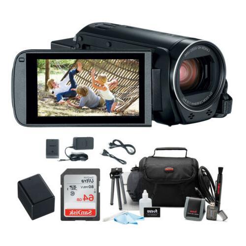 vixia hf r800 camcorder black with 64gb