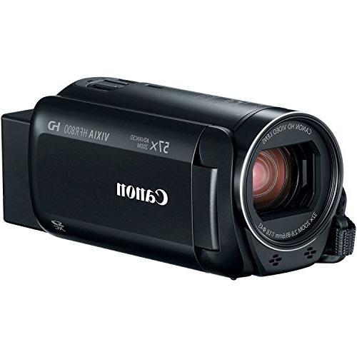 Canon Vixia R800 1080p Video Camera Camcorder with + & + Case + Tripod + Light + Microphone