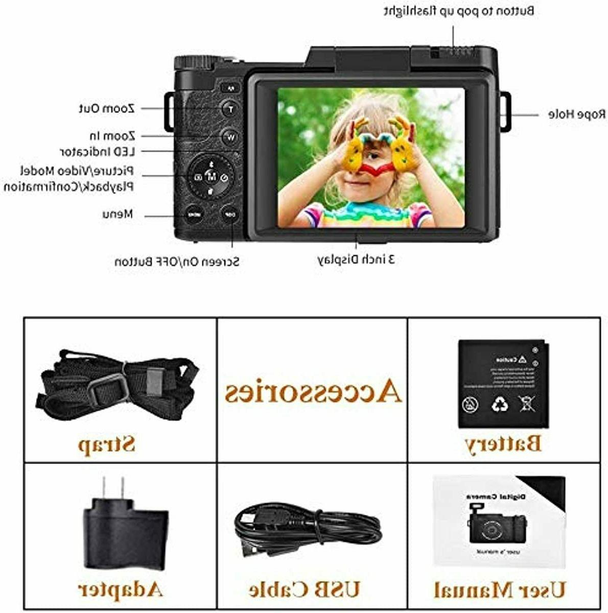 Vlog Camera With Screen Vlogging Youtube Kit Set New