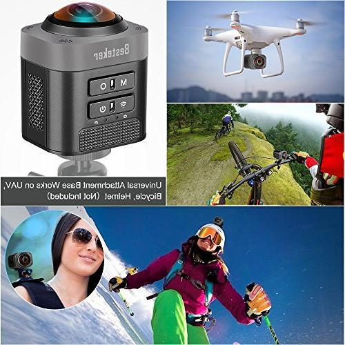 VR 360 Camera, Besteker D5 Degree 1080P DV Full with Fisheye Full-Wave Lens Sphere Camcorder-Black