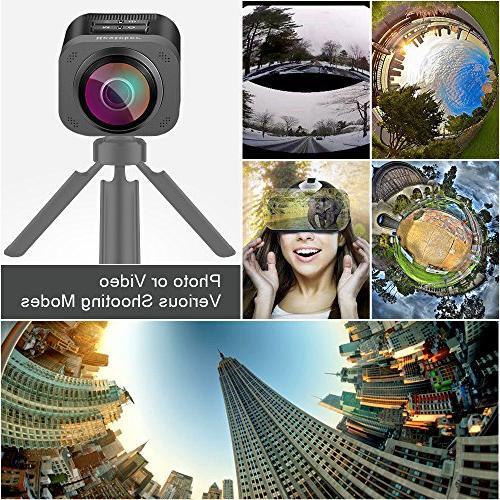 VR Degree Camera, Besteker D5 Degree Full VR Wireless Action Camera with Fisheye