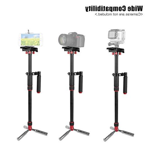 """Kamisafe 43""""/110cm Video Steadicam Tripod Monopod with Quick Release Plate 1/4"""" 3/8"""" to 11lbs Compatible with DSLR"""
