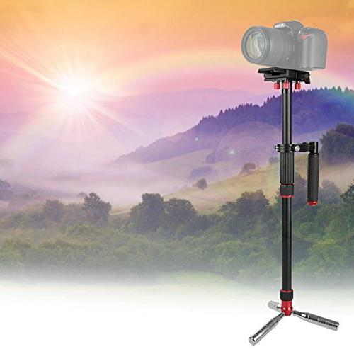 """Kamisafe VS1032 Handheld 43""""/110cm Steadicam Tripod Quick Release 1/4"""" 3/8"""" to 11lbs with DSLR Camcorder Gopro Cellphone"""