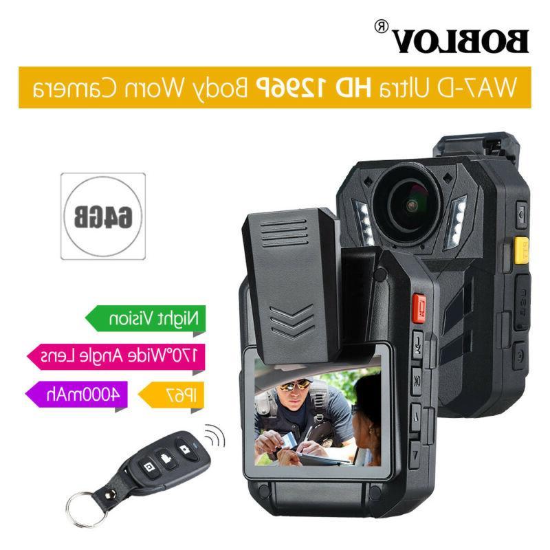 BOBLOV Police body camera 1296P Video Recorder Vision