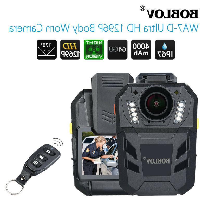 BOBLOV 64GB Police body Video Recorder IR Night