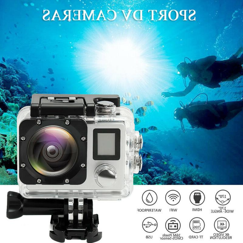 4K Wifi HD 1080P Waterproof Sports Action 16MP Protable Came