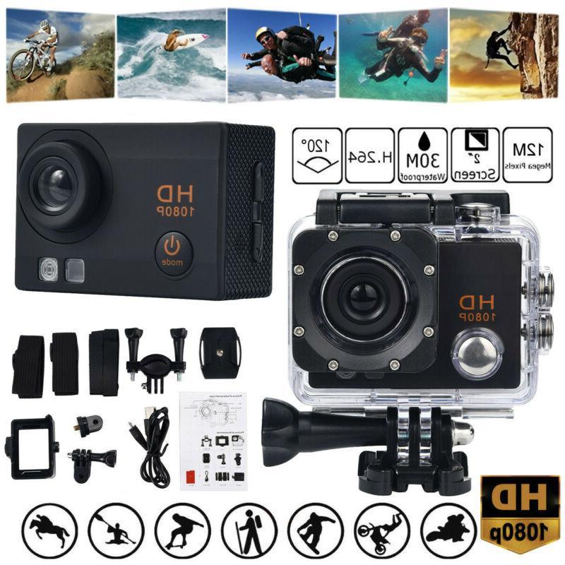 waterproof camera hd 1080p sport action camera
