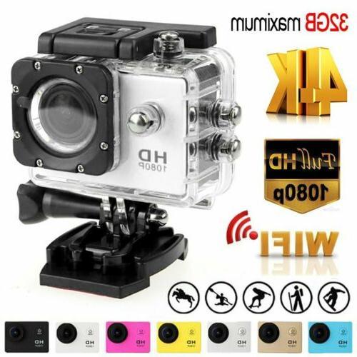 Action Camera HD 4K Camcorder Waterproof DV Sports Cam Go Un