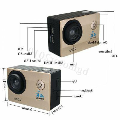 Waterproof Wifi 1080P HD Sports Camera DVR DV Camcorder Control