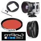 HD WIDE ANGLE LENS + MACRO LENS +RED FILTER FOR GOPRO HERO3