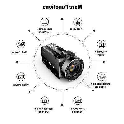 "WiFi 4K FHD Digital Video Camera 1080P 24MP 3.0"""