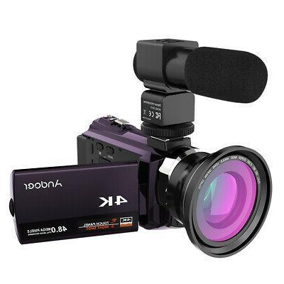 Andoer 4K 1080P Digital Camera & Mic &