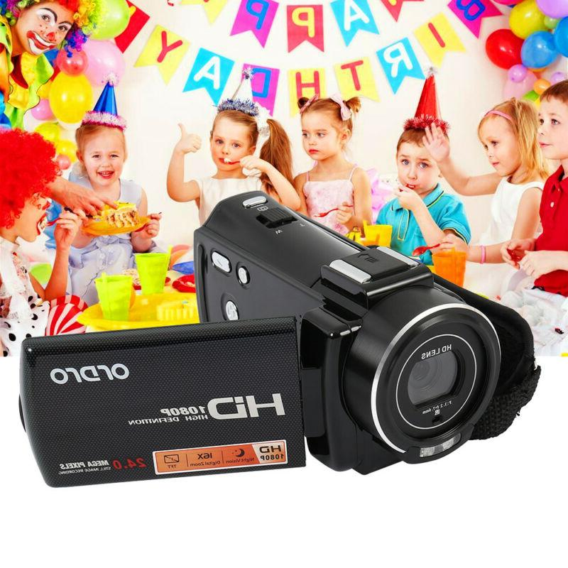 WiFi 24MP Camera Camcorder Rechargeable