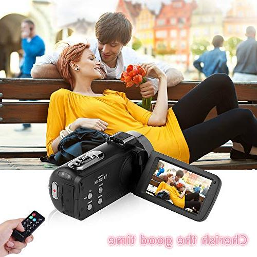 Video Camera WiFi Digital Full HD 1080P 30FPS 16X Zoom Vlogging Microphone Rotatable Screen Support Remote Time-Lapse