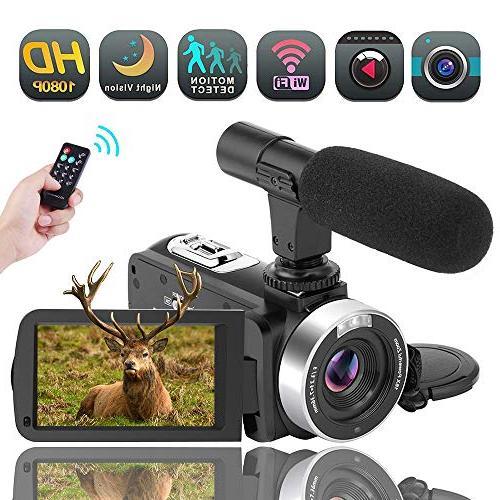 wifi camcorder 30fps zoom vlogging