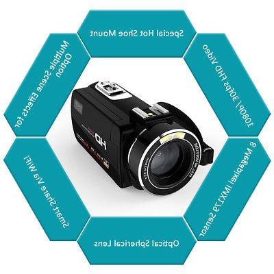 Andoer WiFi IPS 1080P 24MP Digital Camera Microphone