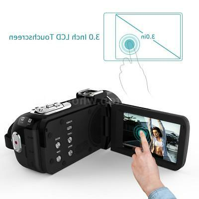 Andoer WiFi FULL IPS 24MP Video DV Camcorder &Microphone