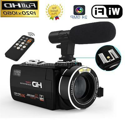"WiFi HD 1080P 24MP 3""LCD Touch Screen 16X ZOOM Digital Video"