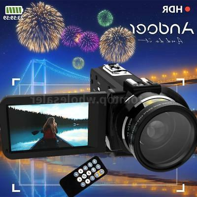 WiFi FULL HD 1080P 24MP 16X ZOOM Touch Screen Digital Video