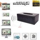 Wireless 1080P HD Tissue Box Hidden Video Camera /w Motion D