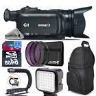 Canon XA11 Professional Camcorder + LED Kit + Stabilizing Ha