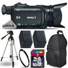 Canon XA15 Professional Camcorder + Extra Battery + UV + Bac