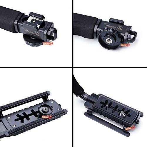 Zeadio Handle Handheld with for Pentax DSLR Camcorder