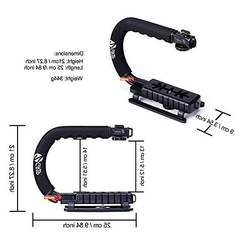 Zeadio Action Handle with Hot-Shoe for Canon Sony Pentax Olympus Camcorder
