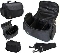 Large Deluxe Camera Carrying Bag Case For Camera Camcorder N