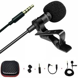 Professional Lavalier Lapel Microphone , Recording Mic for A