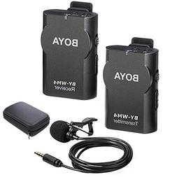 BOYA BY-WM4 2.4GHz Wireless Lavalier Lapel Mic, Omnidirectio
