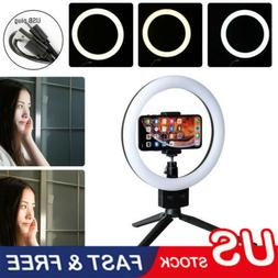 LED Ring Light Studio Photo Video Dimmable Lamp Tripod Stand