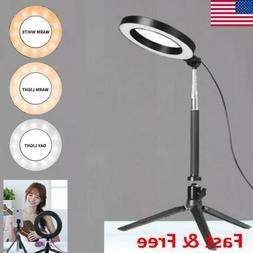 LED Ring Light Video Studio Photo Tripod Stand Selfie Camera