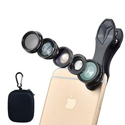 ISSIKI Electronics HD Camera Lens Kit 5 in 1 for iPhone 6/ 6