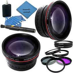 Professional 58mm Lens Kit for Canon VIXIA HF G10, HF G20, H