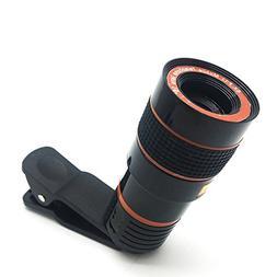 FlatLED 8X Camera Lens Kit, Telescope Camera Lens HD 8X Opti