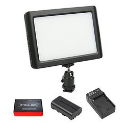 LED Video Light, GILUMI 192pcs Ultra Thin Dimmable High Powe