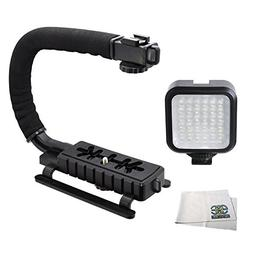 Professional LED Video Light & Stabilizing Grip Package for